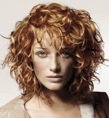 curly hairstyles with bangs for women