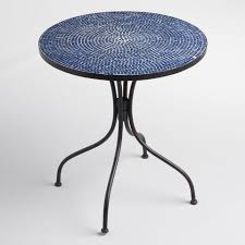 Next Bistro Table Peacoat Blue Cadiz Outdoor Bistro Table World Market
