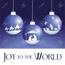 to the world nativity tree ornaments royalty free