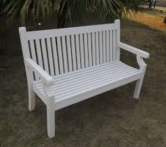 bench sandwick seater white winawood wood effect garden bench
