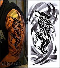 tribal half sleeve by shepush on deviantart