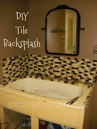 installing glass tile backsplash in bathroom interior design