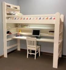 loft bed with desk bunk bed desk combo plans downloadable pdf pinteres