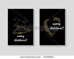 golden christmas cards vector set glitter stock vector 726092305