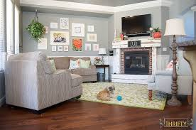 gray and green living room coral and green great room reveal all things thrifty
