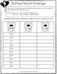 inflectional endings worksheet worksheets
