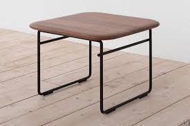 Wire Side Table Wire Side Table Black And Solid Walnut By Pastoe