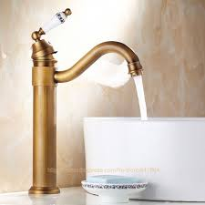 Brass Sink Faucet Awesome Antique Brass Bathroom Faucet And Antique Brass Finish
