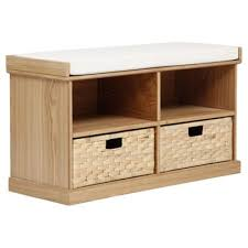 Storage Bench With Baskets Buy Suffolk Hall Storage Bench With Woven Baskets Pine From Our