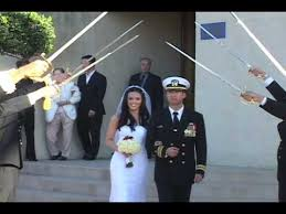 arch of sabers sword ceremony at navy wedding youtube