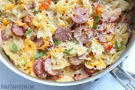 cheesy sausage pasta budget savvy diva