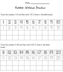 writing numbers worksheet 1 10 worksheets