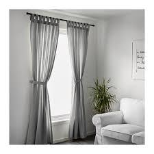 Ikea Gray Curtains Lenda Curtains With Tie Backs 1 Pair 55x98 Ikea