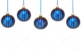 top border of blue ornaments on white stock photo