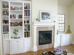 Bookcase With Doors White by Furniture White Painted Wooden Bookcase With Door On Brown Wooden