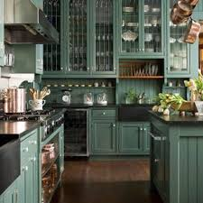 colored kitchen cabinets with black countertops 75 beautiful kitchen with green backsplash and black