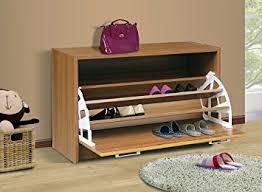 Shoe Cabinet Amazon Amazon Com 4d Concepts Deluxe Single Shoe Cabinet Oak Kitchen