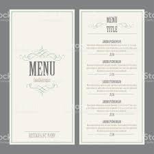 restaurant menu design vector illustration stock vector art
