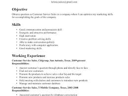 resume exles for customer service position skills in resume exles