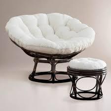 Papasan Ottoman Ivory Faux Fur Papasan Cushion Sku 448704 99 99 B3dr00m