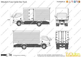 mitsubishi fuso box truck the blueprints com vector drawing mitsubishi fuso canter box truck