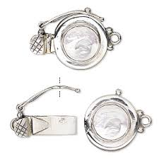 sterling silver bracelet clasps images Sterling silver box clasps with gemstones fire mountain gems and jpg