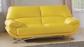 Butter Yellow Sofa Yellow Leather Sofas Foter