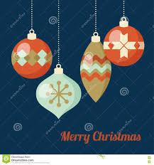 Card Invitation Retro Christmas Greeting Card Invitation Hanging Christmas Balls