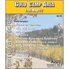 Bear Creek Trail Map Hiking Trails Colorado Springs Gold Camp Area Map 2 U2013 Pocket