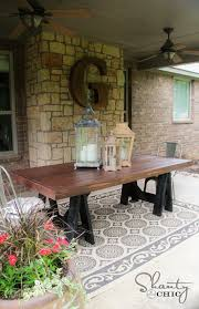 Patio Dining Table Diy Table Pottery Barn Inspired Shanty 2 Chic