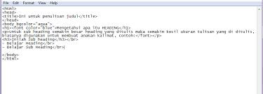 tutorial membuat web html sederhana cara membuat halaman web sederhana menggunakan notepad seputar