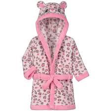 robe de chambre leopard peignoir bébé fille imprimé léopard in extenso pas cher à prix auchan