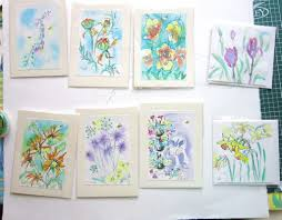 painted cards for sale wildlife carol meikleham