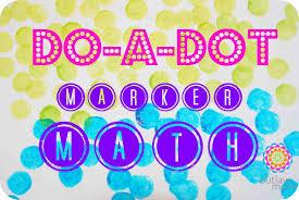 preschool math activity do a dot marker math the outlaw mom