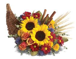 cornucopia flowers centerpiece for fall and thanksgiving
