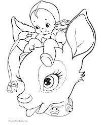 cute reindeer christmas coloring pages