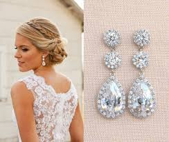 bridal jewelry bridal earrings wedding earrings bridal