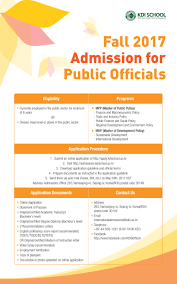 fall 2017 kdi admission for public officials
