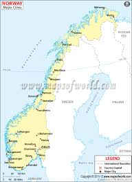 Scandinavia Blank Map by Norway Cities Map Major Cities In Norway