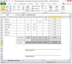Bi Weekly Timesheet Template Excel Excel Timesheet Template With Formulas Template Design