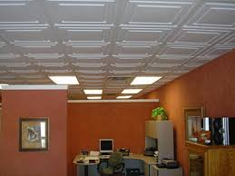 Faux Tin Ceiling Tiles Drop In by Ceiling Gratifying Faux Ceiling Tiles Glue Up Charismatic