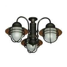 Outdoor Ceiling Fans With Light 362 Nautical Styled Outdoor Ceiling Fan Light Kit 3 Finish For