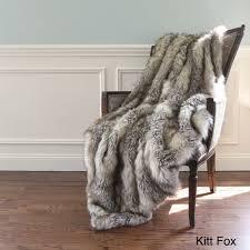Pottery Barn Fur Blanket Aurora Home Wild Mannered Luxury Long Hair Faux Fur 60 Inch Lap