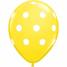 polka dot balloons yellow big polka dots balloons 16 inch 1 count boswell s party