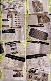 newspaper wedding programs best 25 wedding newspaper ideas on day news gangster