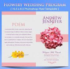 Wedding Program 20 Elegant Wedding Program Templates