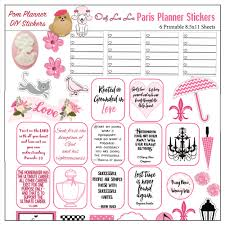 coffee planner stickers printable paris printable planner kit in pink black pomplanner poodles