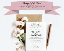 vinyl wedding invitations design your own spring wedding invitation in illustrator melanie