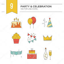 champagne celebration cartoon party and event planning icons u2014 stock vector favetelinguis199