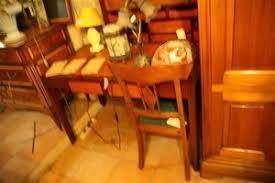 bureau acajou bureau en bois teinté acajou et merisier ouvrant à deux